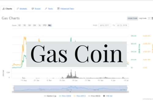 Gas Coin text on gas price chart