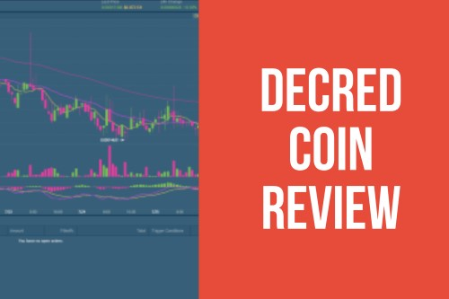 Decred Coin Review text next to chart
