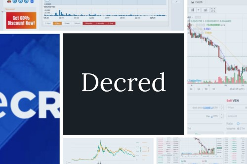 Decred text on decred chart