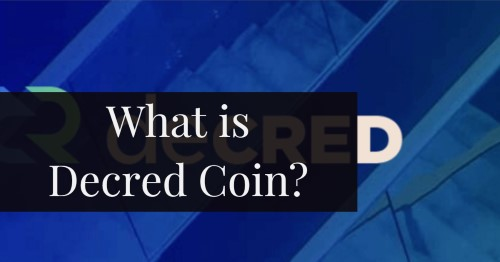 What is Decred Coin text on decred logo